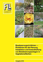 Richtlinien für die Planung, Installation und Instandhaltung von Bewässerungsanlagen in Vegetationsflächen