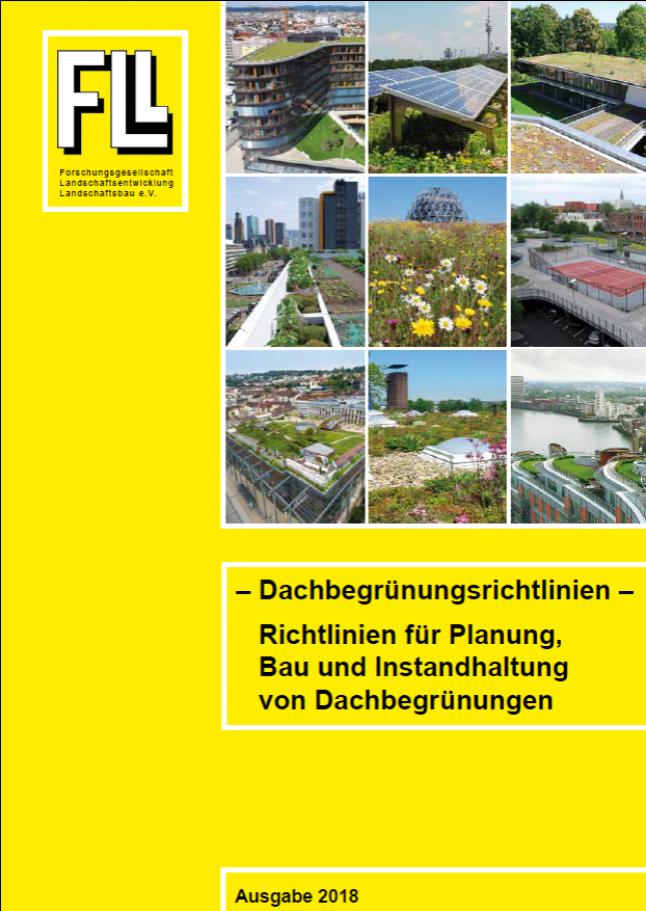 Dachbegrünungsrichtlinien 2018