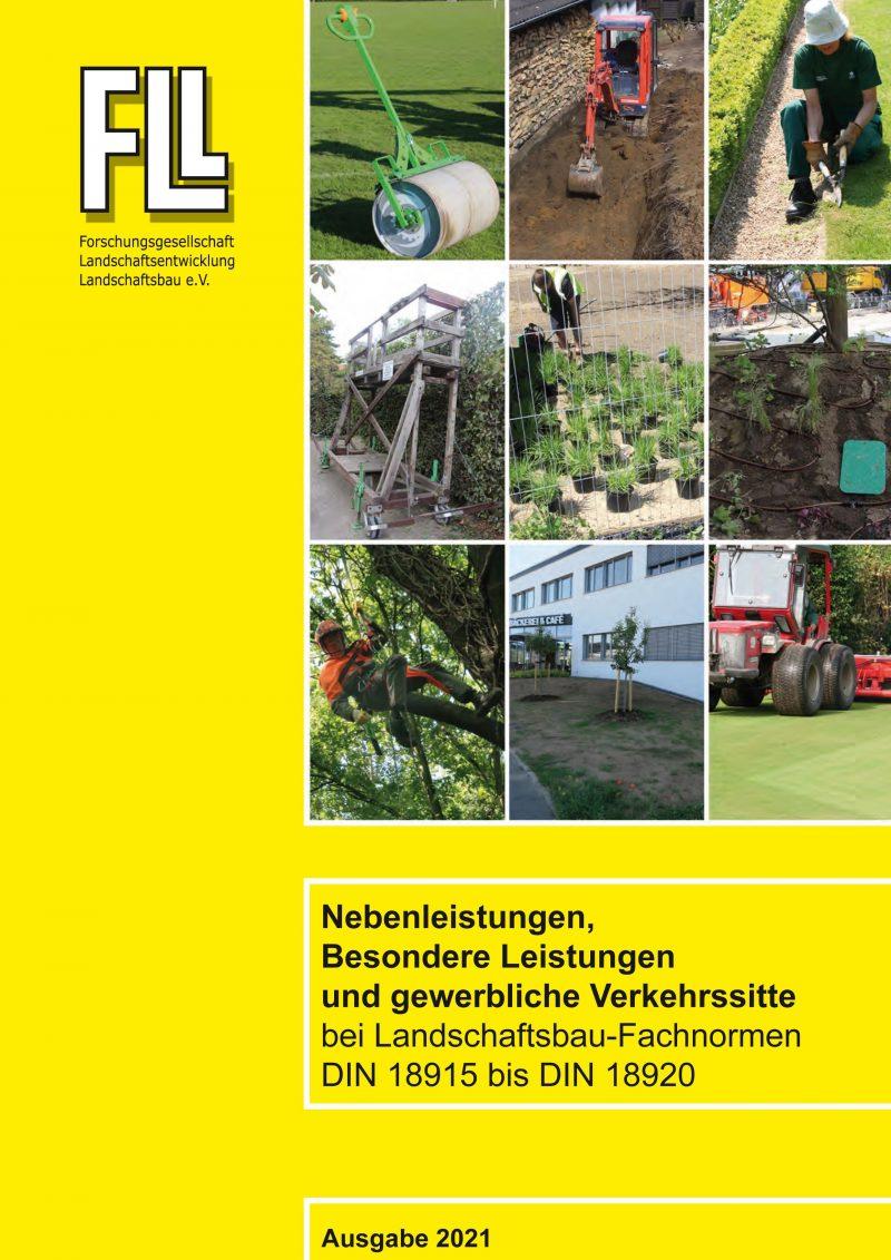 Besondere Leistungen, Nebenleistungen und gewerbliche Verkehrssitte bei Landschaftsbau-Fachnormen DIN 18915 bis DIN 18920,